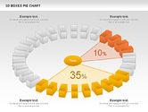 Pie Charts: 3D Boxes Pie Chart #00855