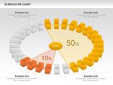 3D Boxes Pie Chart#10