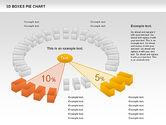 3D Boxes Pie Chart#11