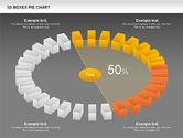 3D Boxes Pie Chart#15