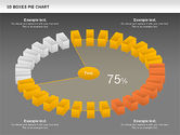 3D Boxes Pie Chart#16