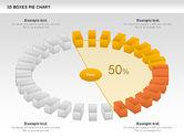 3D Boxes Pie Chart#4