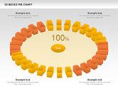 3D Boxes Pie Chart#6