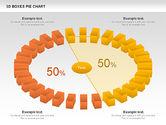 3D Boxes Pie Chart#8