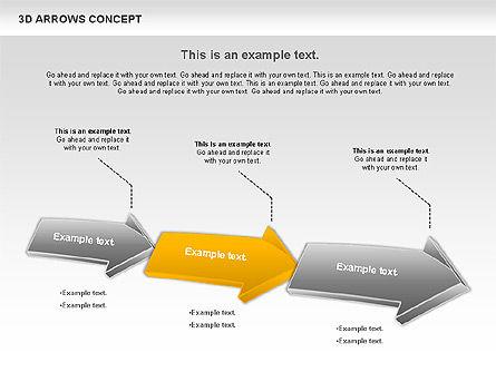 3D Arrows Concept Slide 3