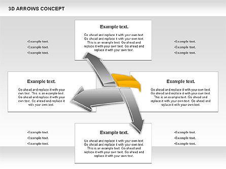 3D Arrows Concept Slide 4