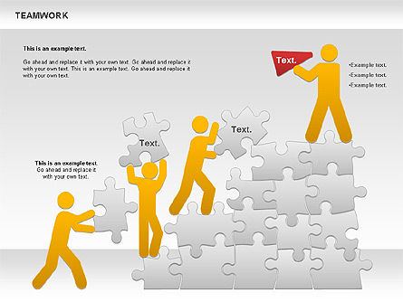 Puzzle Diagrams: Teamwork with Puzzles Diagram #00862