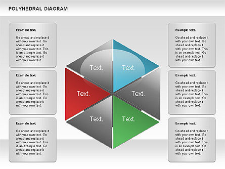 Polyhedral Diagram, 00863, Business Models — PoweredTemplate.com
