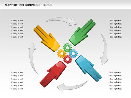 Supporting Business People, Slide 3, 00864, Business Models — PoweredTemplate.com