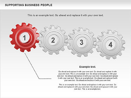 Supporting Business People, Slide 4, 00864, Business Models — PoweredTemplate.com