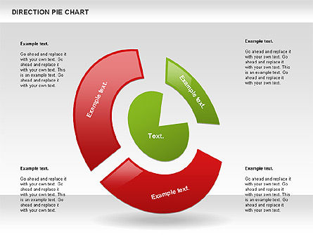 Pie Charts: Direction Pie Chart #00866