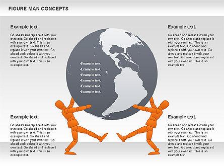 Figure Man Concept, Slide 10, 00867, Business Models — PoweredTemplate.com