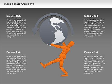 Figure Man Concept, Slide 12, 00867, Business Models — PoweredTemplate.com