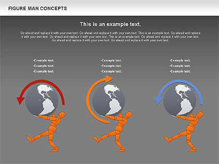 Figure Man Concept, Slide 13, 00867, Business Models — PoweredTemplate.com
