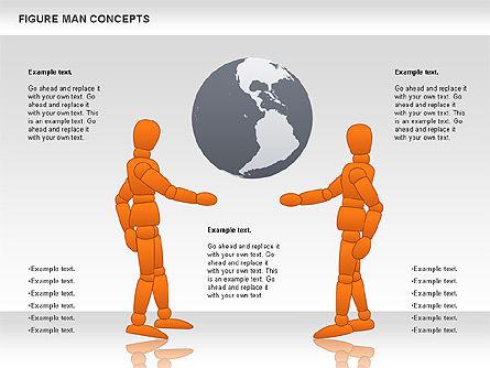 Figure Man Concept, Slide 4, 00867, Business Models — PoweredTemplate.com