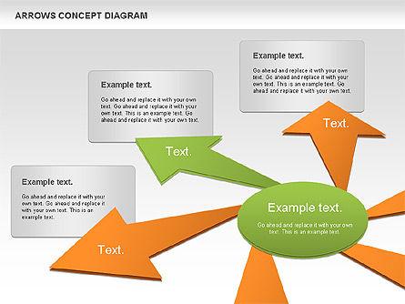 Arrows Concept Diagram, Slide 10, 00868, Business Models — PoweredTemplate.com