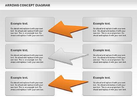 Arrows Concept Diagram, Slide 11, 00868, Business Models — PoweredTemplate.com