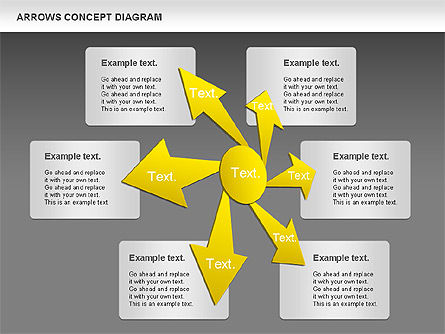 Arrows Concept Diagram, Slide 12, 00868, Business Models — PoweredTemplate.com