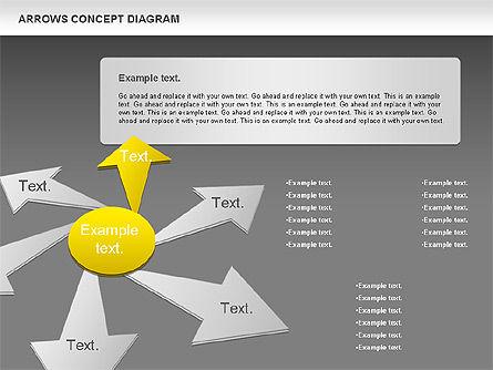 Arrows Concept Diagram, Slide 13, 00868, Business Models — PoweredTemplate.com
