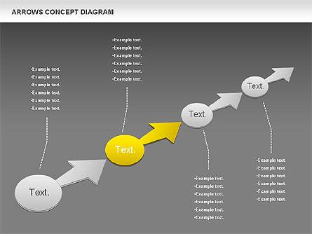 Arrows Concept Diagram, Slide 14, 00868, Business Models — PoweredTemplate.com