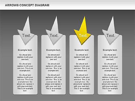 Arrows Concept Diagram, Slide 15, 00868, Business Models — PoweredTemplate.com