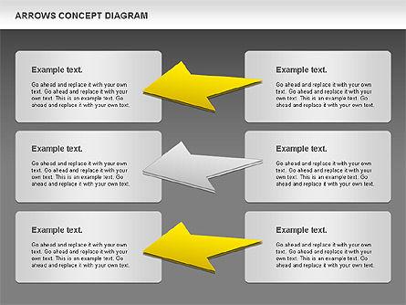 Arrows Concept Diagram, Slide 16, 00868, Business Models — PoweredTemplate.com