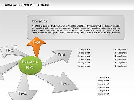 Arrows Concept Diagram, Slide 2, 00868, Business Models — PoweredTemplate.com