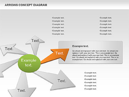 Arrows Concept Diagram, Slide 3, 00868, Business Models — PoweredTemplate.com