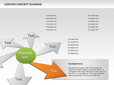 Arrows Concept Diagram, Slide 4, 00868, Business Models — PoweredTemplate.com