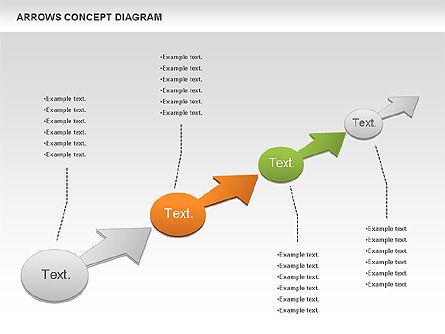 Arrows Concept Diagram, Slide 5, 00868, Business Models — PoweredTemplate.com