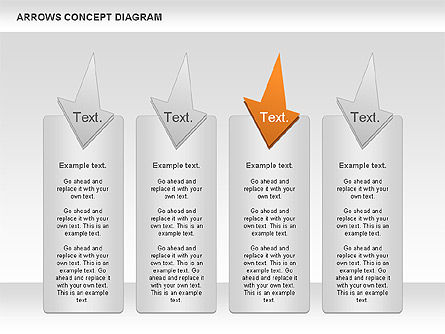 Arrows Concept Diagram, Slide 6, 00868, Business Models — PoweredTemplate.com