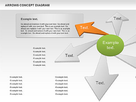 Arrows Concept Diagram, Slide 7, 00868, Business Models — PoweredTemplate.com
