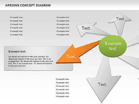 Arrows Concept Diagram, Slide 8, 00868, Business Models — PoweredTemplate.com