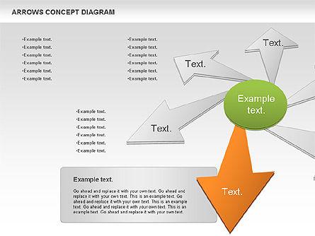 Arrows Concept Diagram, Slide 9, 00868, Business Models — PoweredTemplate.com
