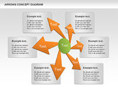 Business Models: Arrows Concept Diagram #00868