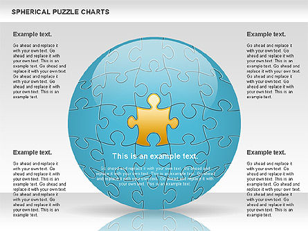 Spherical Puzzle Chart, 00869, Puzzle Diagrams — PoweredTemplate.com