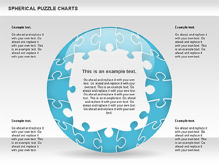 Spherical Puzzle Chart, Slide 10, 00869, Puzzle Diagrams — PoweredTemplate.com