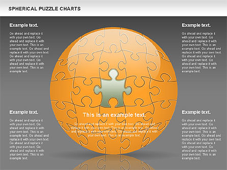 Spherical Puzzle Chart, Slide 12, 00869, Puzzle Diagrams — PoweredTemplate.com
