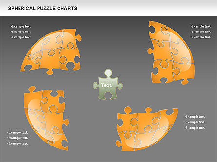 Spherical Puzzle Chart, Slide 14, 00869, Puzzle Diagrams — PoweredTemplate.com