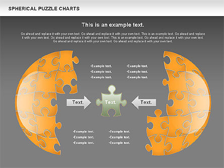 Spherical Puzzle Chart, Slide 15, 00869, Puzzle Diagrams — PoweredTemplate.com