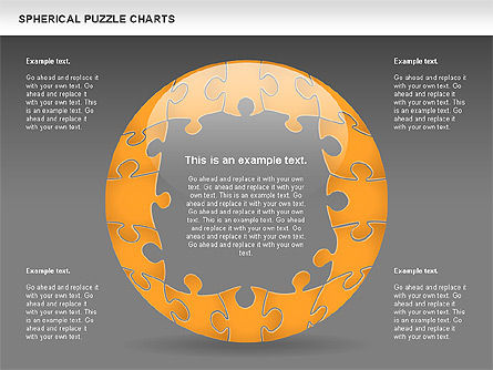 Spherical Puzzle Chart, Slide 16, 00869, Puzzle Diagrams — PoweredTemplate.com
