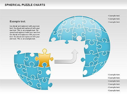 Spherical Puzzle Chart, Slide 2, 00869, Puzzle Diagrams — PoweredTemplate.com