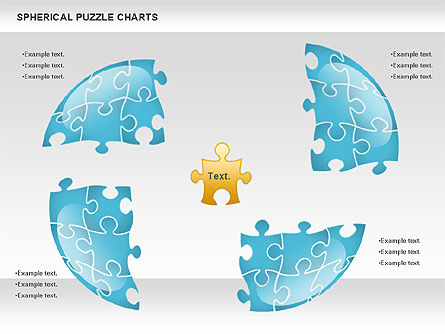 Spherical Puzzle Chart, Slide 3, 00869, Puzzle Diagrams — PoweredTemplate.com