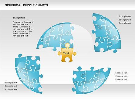 Spherical Puzzle Chart, Slide 4, 00869, Puzzle Diagrams — PoweredTemplate.com
