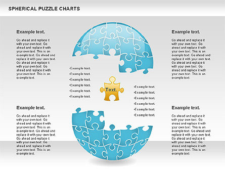 Spherical Puzzle Chart, Slide 9, 00869, Puzzle Diagrams — PoweredTemplate.com