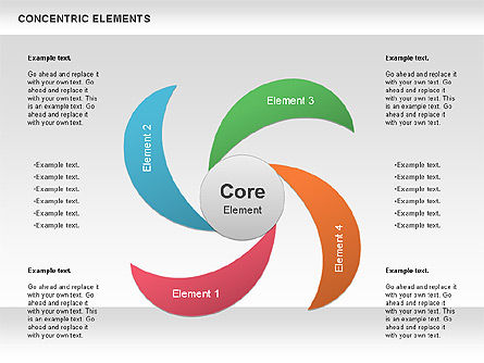 Concentric Timeline Shapes Slide 2