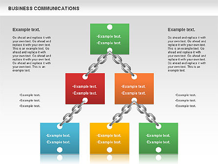 Communication Chain, Slide 10, 00871, Business Models — PoweredTemplate.com