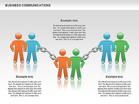 Communication Chain, Slide 11, 00871, Business Models — PoweredTemplate.com