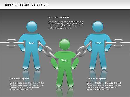 Communication Chain, Slide 13, 00871, Business Models — PoweredTemplate.com