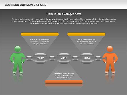 Communication Chain, Slide 14, 00871, Business Models — PoweredTemplate.com
